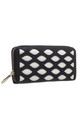 LARGE LASER CUT PURSE IN BLACK by BESSIE LONDON