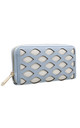 LARGE LASER CUT PURSE IN BLUE by BESSIE LONDON