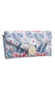 FLAP OVER PURSE IN MULTI FLAMINGO PRINT by BESSIE LONDON
