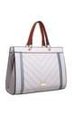 QUILTED TOTE BAG IN GREY/MULTICOLOUR by BESSIE LONDON