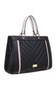 QUILTED TOTE BAG IN BLACK/MULTICOLOUR by BESSIE LONDON