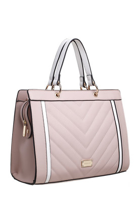 QUILTED TOTE BAG IN PINK/MULTICOLOUR by BESSIE LONDON