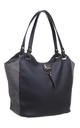 TWO TONE SHOPPER BAG IN BLACK by BESSIE LONDON