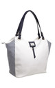 TWO TONE SHOPPER BAG IN WHITE by BESSIE LONDON