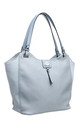 TWO TONE SHOPPER BAG IN BLUE by BESSIE LONDON
