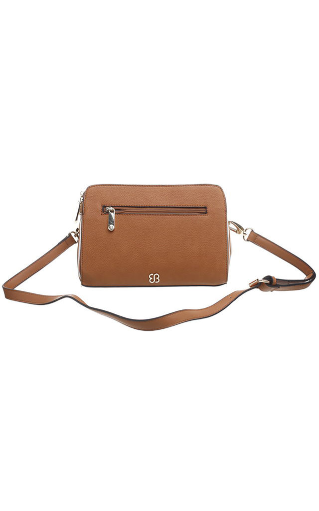 Brown CANVAS PANEL CROSSBODY BAG by BESSIE LONDON