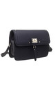 BLACK TWO TONE CROSSBODY BAG by BESSIE LONDON