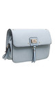 BLUE TWO TONE CROSSBODY BAG by BESSIE LONDON