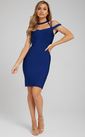 Yolanda Bandage Dress In Navy by Made By Issae Product photo