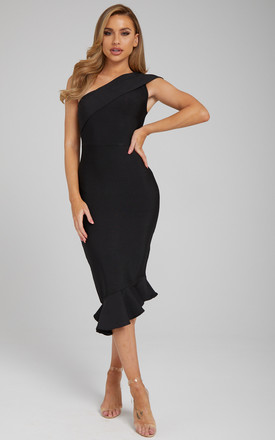 Katreen One Shoulder Bandage Dress In Black by Made By Issae Product photo