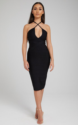 Zizi Bandage Midi Dress In Black by Made By Issae Product photo
