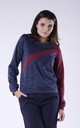 Two Tone Sweatshirt in Navy & Maroon by Bergamo