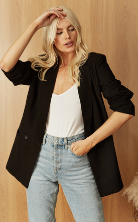 Double Breasted Blazer in Black by VM