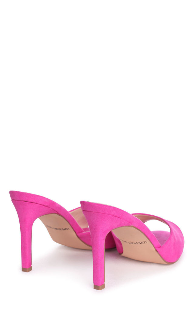 Love Story Hot Pink Suede Mule by Linzi