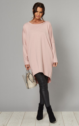 Margaret Oversized Long Sleeve Top In Pink by Blue Vanilla Product photo