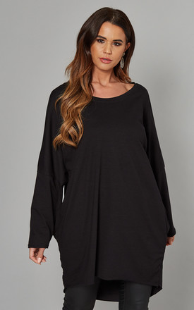 Margaret Oversized Long Sleeve Top In Black by Blue Vanilla Product photo