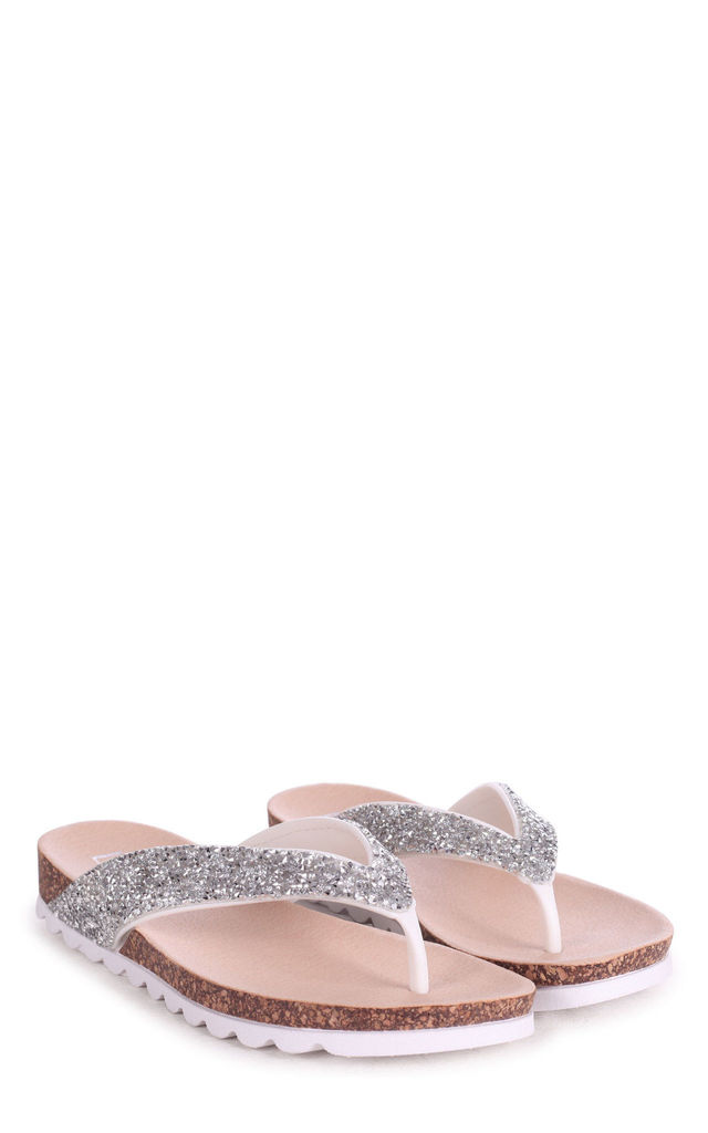Jana White Diamante Toe Post Sandal With Cleated Sole by Linzi