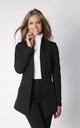 Long Asymetric Jacket in Black by By Ooh La La