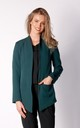 Long Asymetric Jacket in Green by By Ooh La La