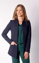Long Asymetric Jacket in Navy Blue by By Ooh La La