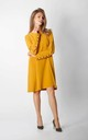 Long Sleeve Loose Fit Dress in Yellow by By Ooh La La