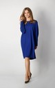 Long Sleeve Loose Fit Dress in Blue by By Ooh La La