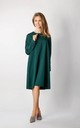 Long Sleeve Loose Fit Dress in Green by By Ooh La La