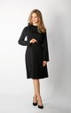Long Sleeve A-Line Dress in Black by By Ooh La La