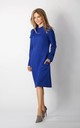 Long Sleeve A-Line Dress in Blue by By Ooh La La
