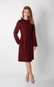 Long Sleeve A-Line Dress in Maroon by By Ooh La La