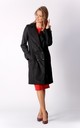 Coat with Buttons in Black by By Ooh La La