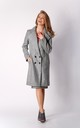 Coat with Buttons in Grey by By Ooh La La