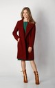 Coat with Buttons in Maroon by By Ooh La La