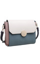 FLAP TOP CROSSBODY BAG IN GREEN/THREE TONE by BESSIE LONDON