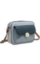 FLAP TOP FRONT POCKET CAMERA BAG in TEAL by BESSIE LONDON