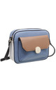 FLAP TOP FRONT POCKET CAMERA BAG in BLUE by BESSIE LONDON