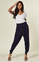 Harem Pants In Navy by Aftershock London