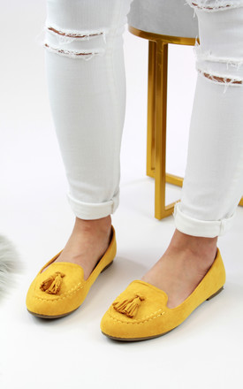Valerie Yellow Tassel Casual Pumps by Larena Fashion