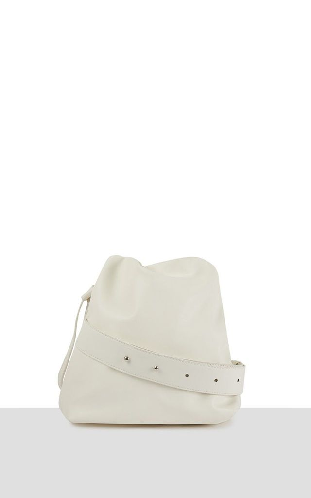 Taipei Supersoft Bag in White Vegan Leather by Azurina