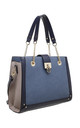 RING CHAIN HANDLE SHOULDER BAG in BLUE by BESSIE LONDON