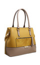CROC PRINT FRONT POCKET TOTE BAG IN YELLOW by BESSIE LONDON