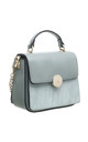 CROC PRINT FLAP OVER TOP HANDLE BAG GREEN by BESSIE LONDON