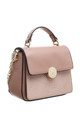 CROC PRINT FLAP OVER TOP HANDLE BAG PINK by BESSIE LONDON