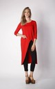 Asymmetric Tunic Top with Zip in Red by By Ooh La La