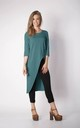 Asymmetric Tunic Top with Zip in Green by By Ooh La La