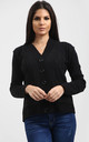 Eliza Long Sleeve Knitted Cardigan In Black by Oops Fashion