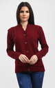 Eliza Long Sleeve Knitted Cardigan In Wine by Oops Fashion
