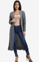 Emilia Open Front Check Board Cardigan In Grey by Oops Fashion