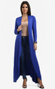Long Waterfall Cardigan In Royal Blue by Oops Fashion