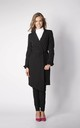 Coat with Frill Sleeves in Black by By Ooh La La